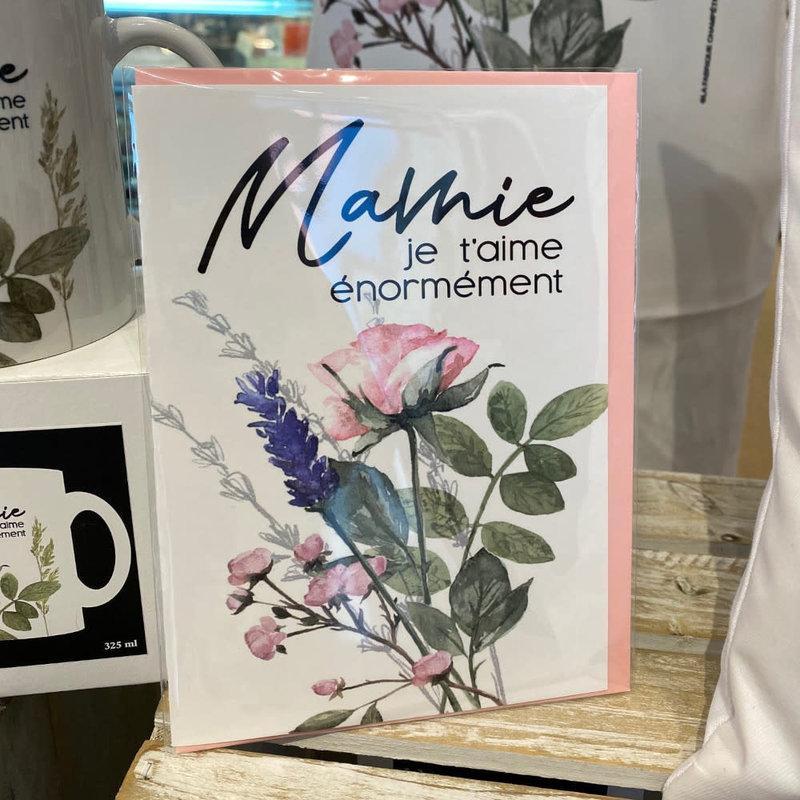 La Fabrique Champêtre Carte Mamie je t'aime énormément