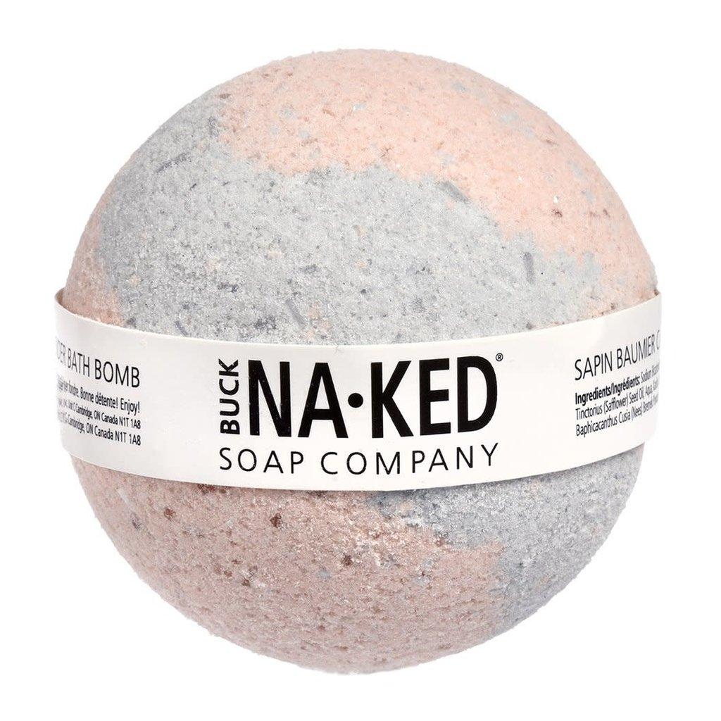 Buck Naked Soap Company Bombe de bain sapin beaumier canadien et lavande