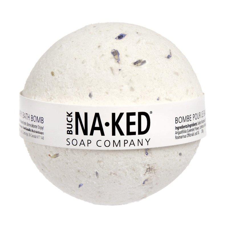 Buck Naked Soap Company Bombe de bain à la lavande et au romarin