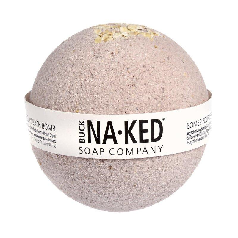 Buck Naked Soap Company Bombe de bain à l'argile poupre du Brésil