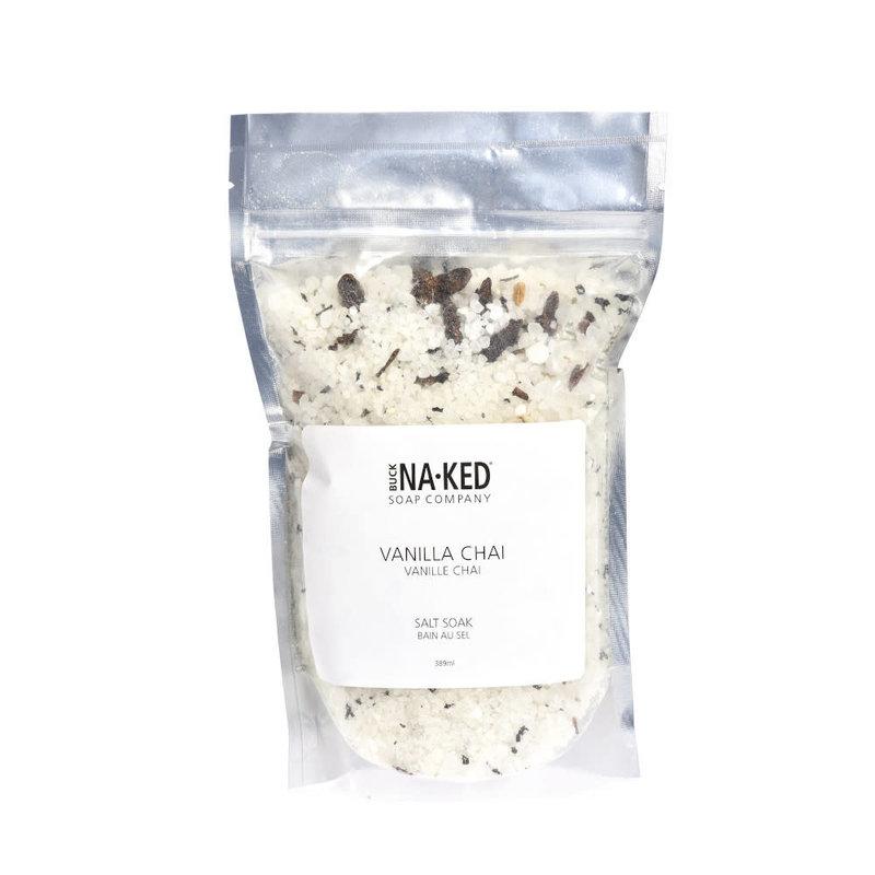 Buck Naked Soap Company Sel de bain Vanille Chai