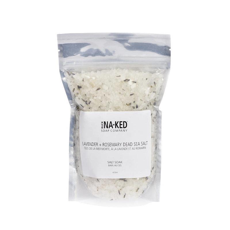 Buck Naked Soap Company Sel de bain sels de la mer morte, à la lavande et au romarin