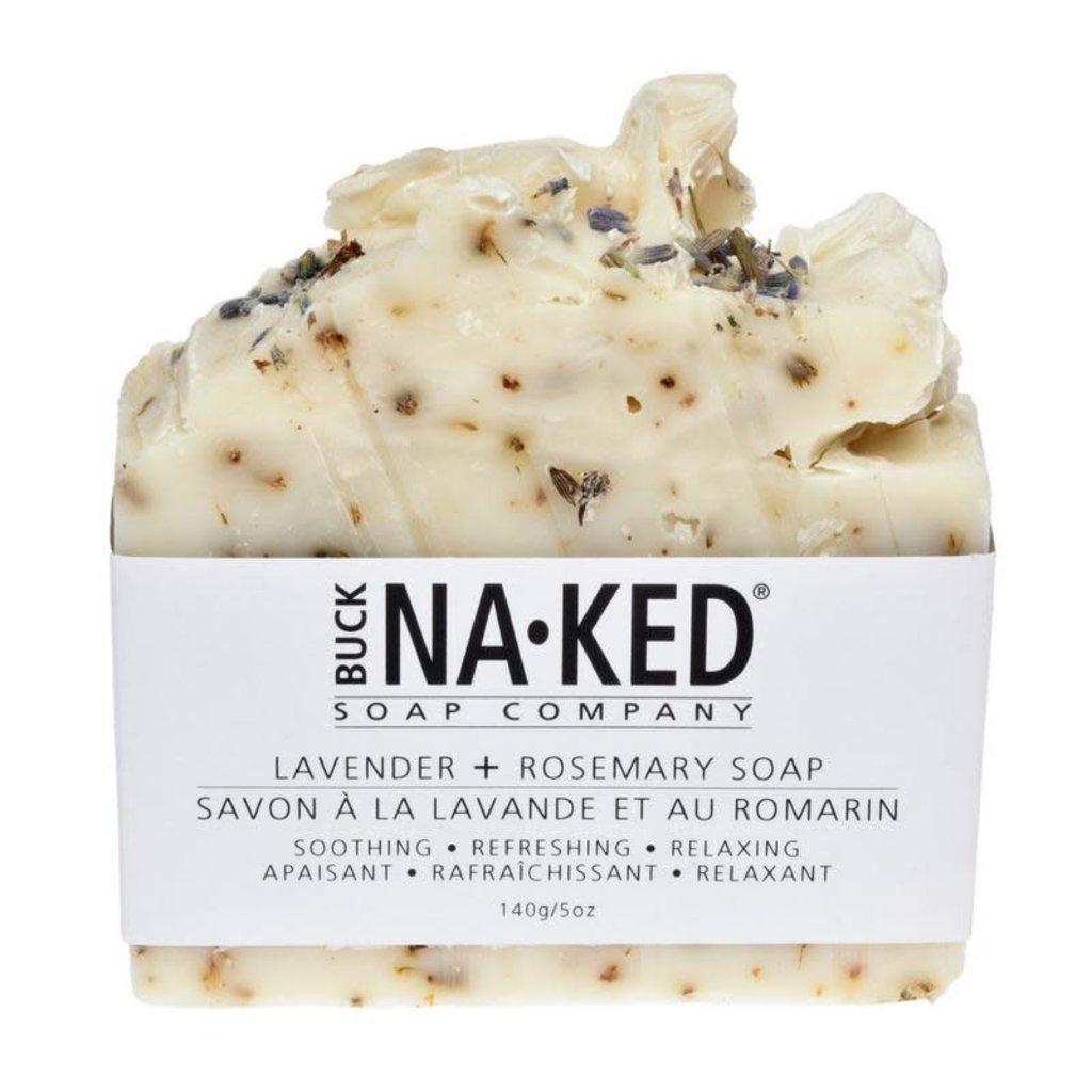 Buck Naked Soap Company Savon à la lavande et au romarin
