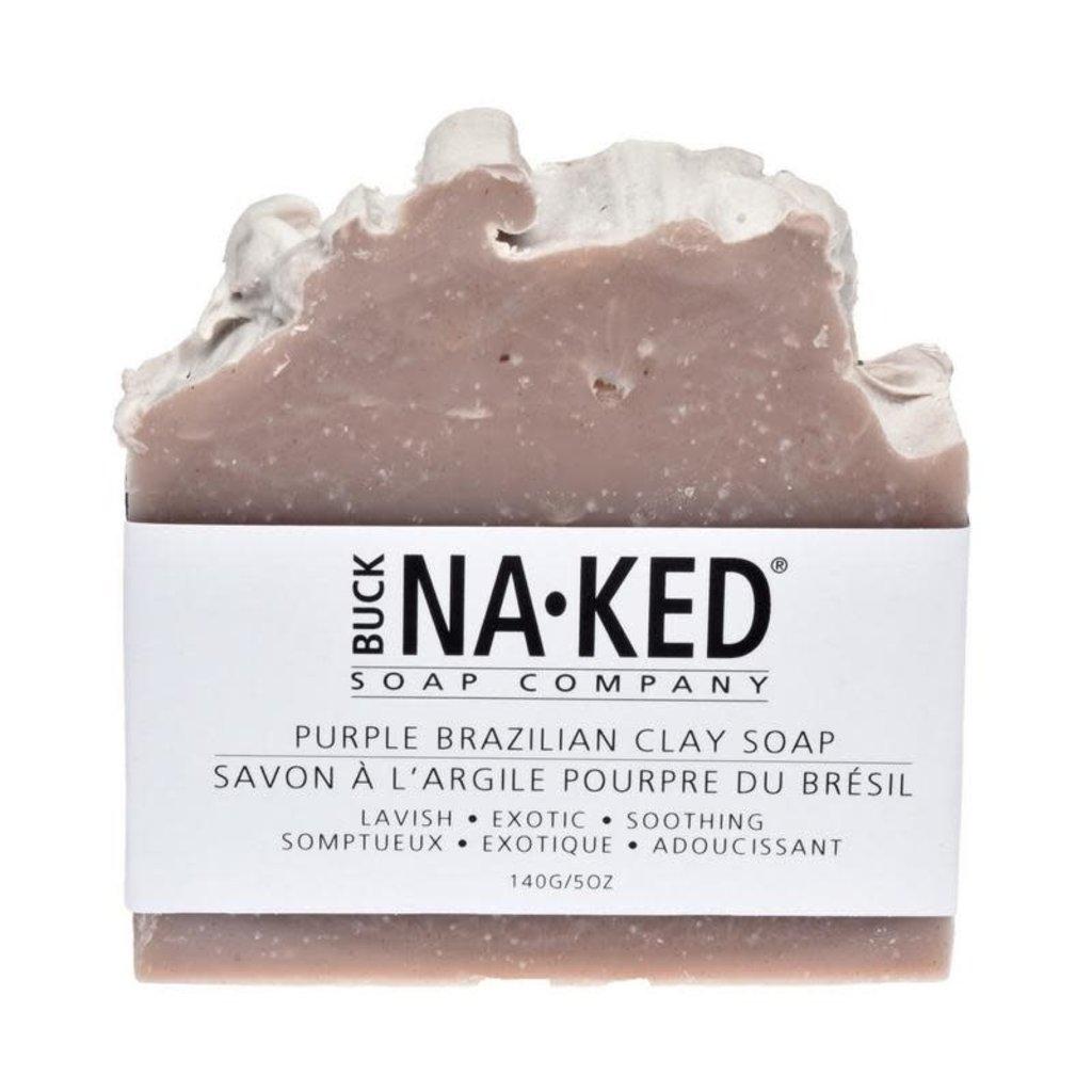 Buck Naked Soap Company Savon à l'argile pourpre du Brésil