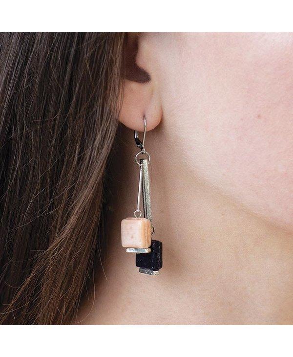 Boucles d'oreilles Anne-Marie Chagnon  Priska pleine lune