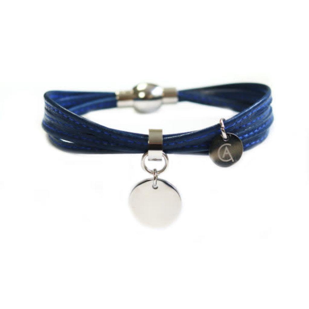 Cré-Art Bracelet Cré-Art Médaillon Cuir