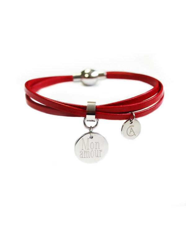 Bracelet Cré-Art Médaillon Cuir