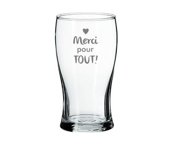 """Verre à bière """"Merci pour tout"""""""