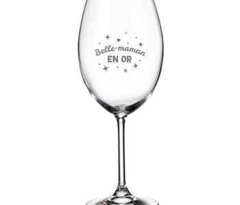 Verre à vin Belle- Maman en or 20oz