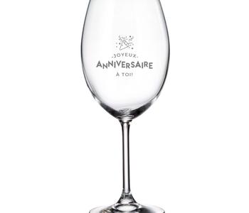 Verre à vin Joyeux anniversaire à toi!