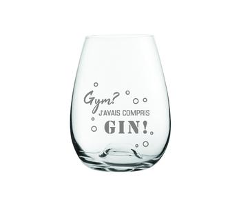 "Verre gravé "" Gym? J'avais compris Gin! "" (old Fashioned)"