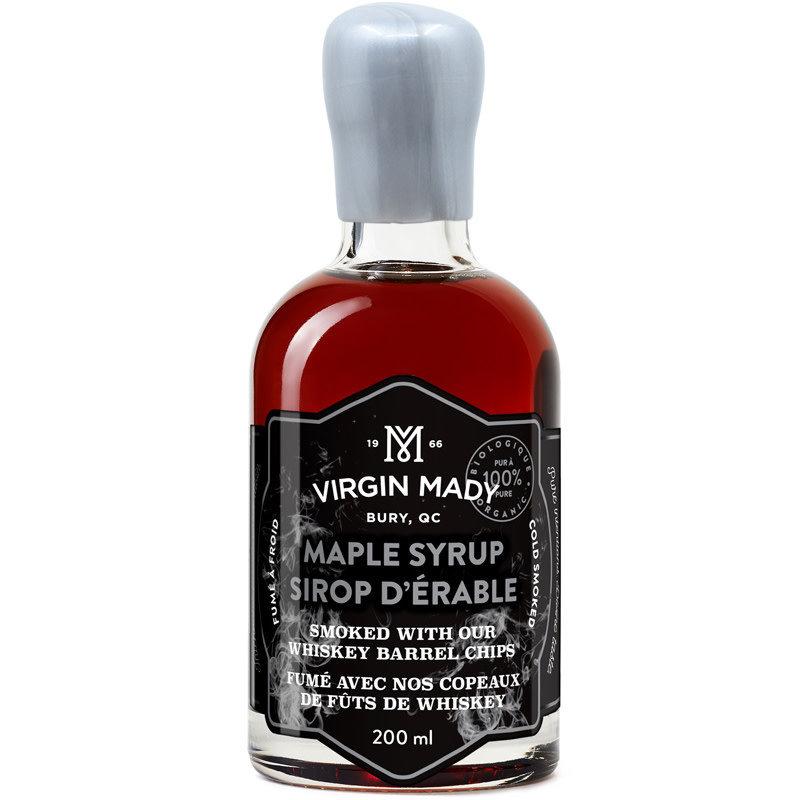 Virgin Mady Sirop d'érable fumé avec copeaux de fûts de whiskey 200 ml