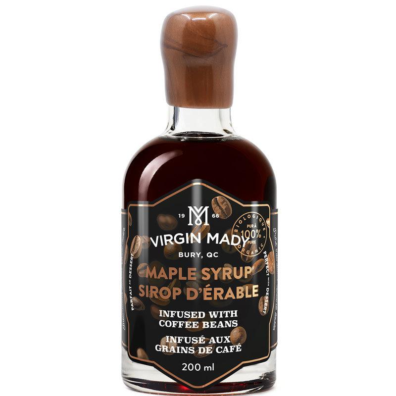 Virgin Mady Sirop d'érable infusé aux grains de café 200 ml