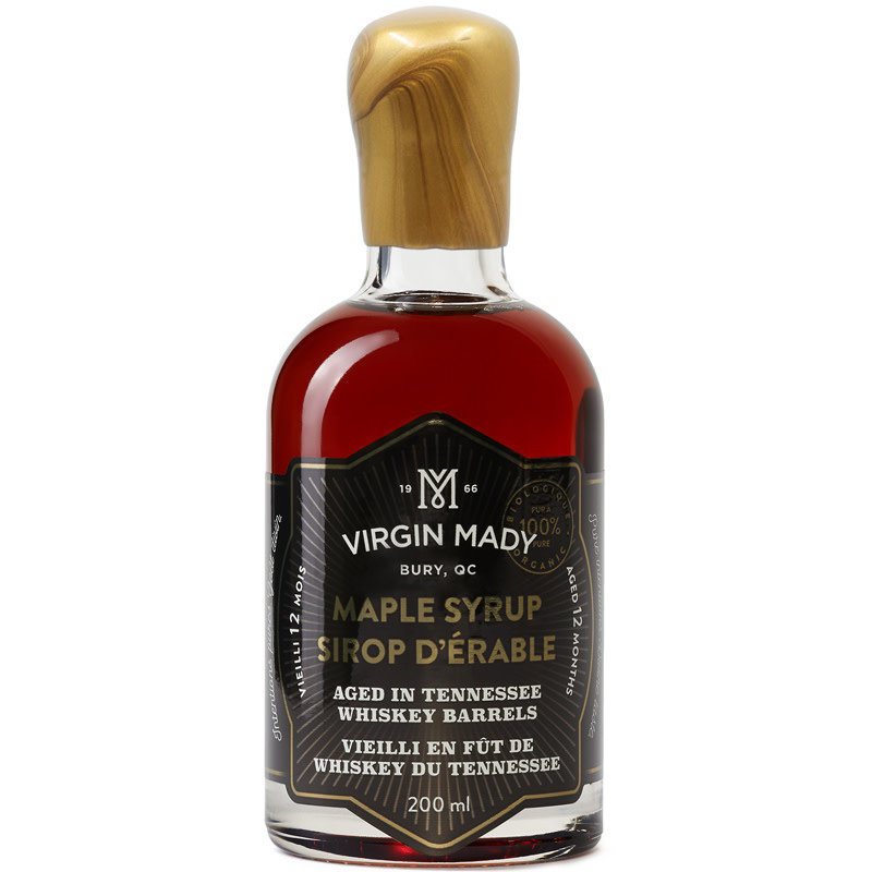 Virgin Mady Sirop d'érable vieilli en fût de whiskey du Tennessee  200 ml âge 12 mois