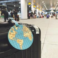 Kikkerland Étiquette à bagages globe-trotter