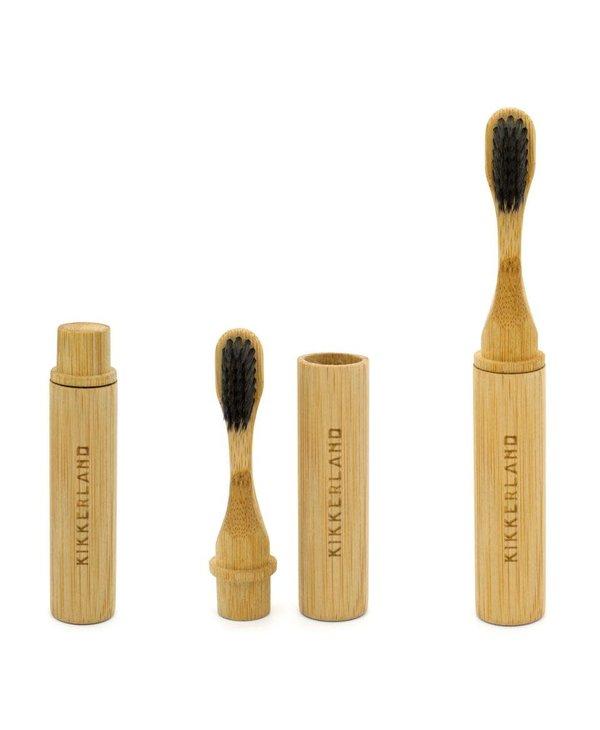 Brosse à dents de voyage en bambou de Kikkerland