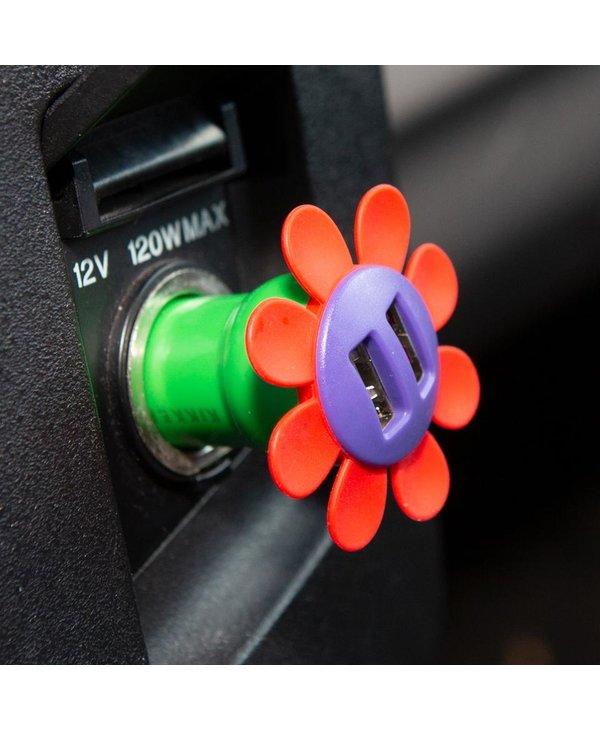 Chargeur de voiture à fleur