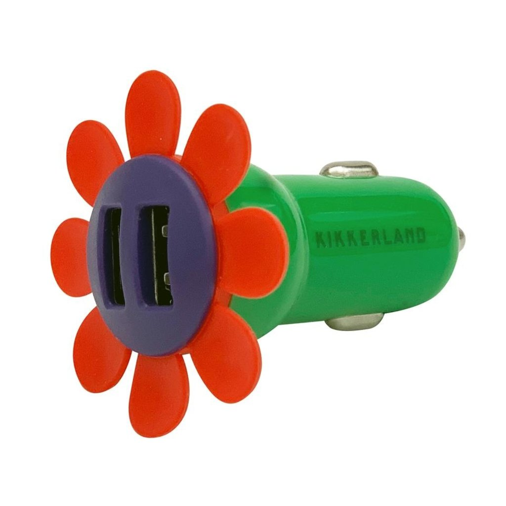 Kikkerland Chargeur de voiture à fleur