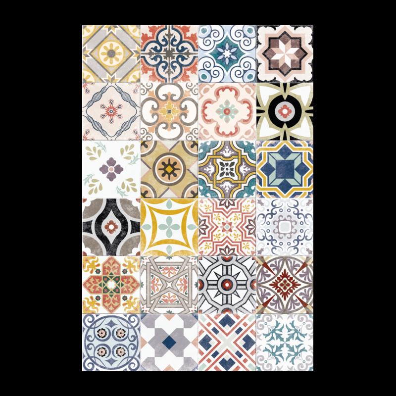 A&A Tapis en vinyl Ceramics Antique 2' x 3'