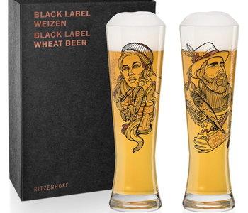Verre à bière Ritzenhoff ens. de 2 falconer& lumberjack