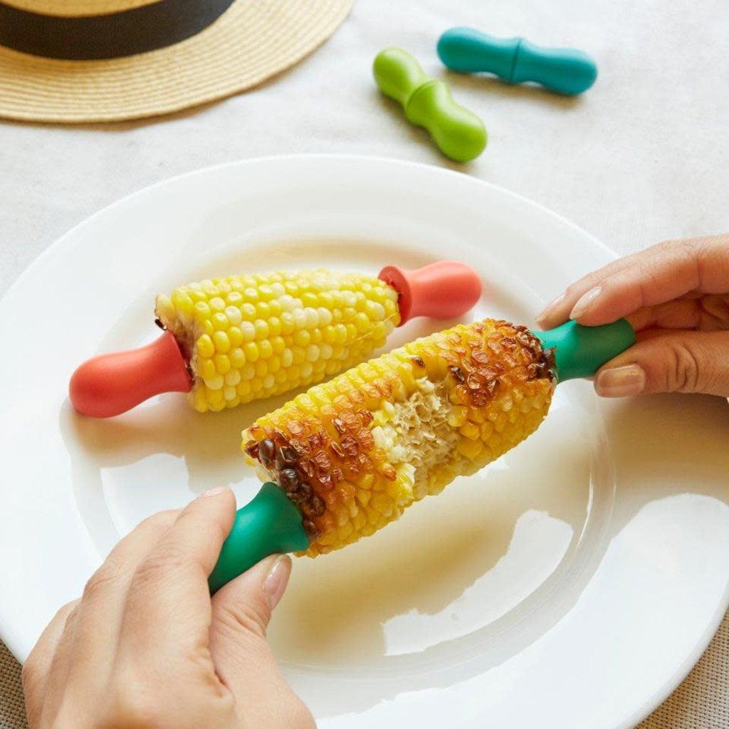 Kikkerland Pic à maïs multicolores