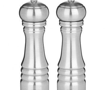 Ens. Moulin à poivre et à sel Professionel inox 20 cm de Trudeau