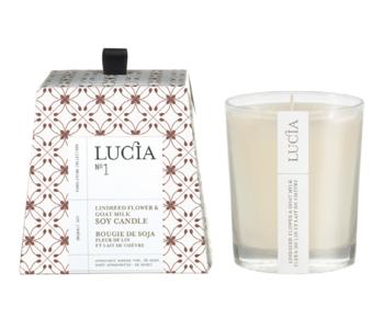 N°1 Bougie de soja Fleur de lin et lait de chèvre 50h Lucia