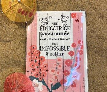 Carte Une Éducatrice Passionné ...