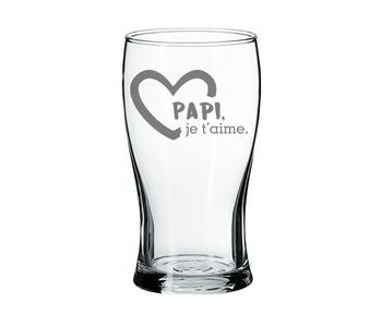Verre à Bière Papi je t'aime
