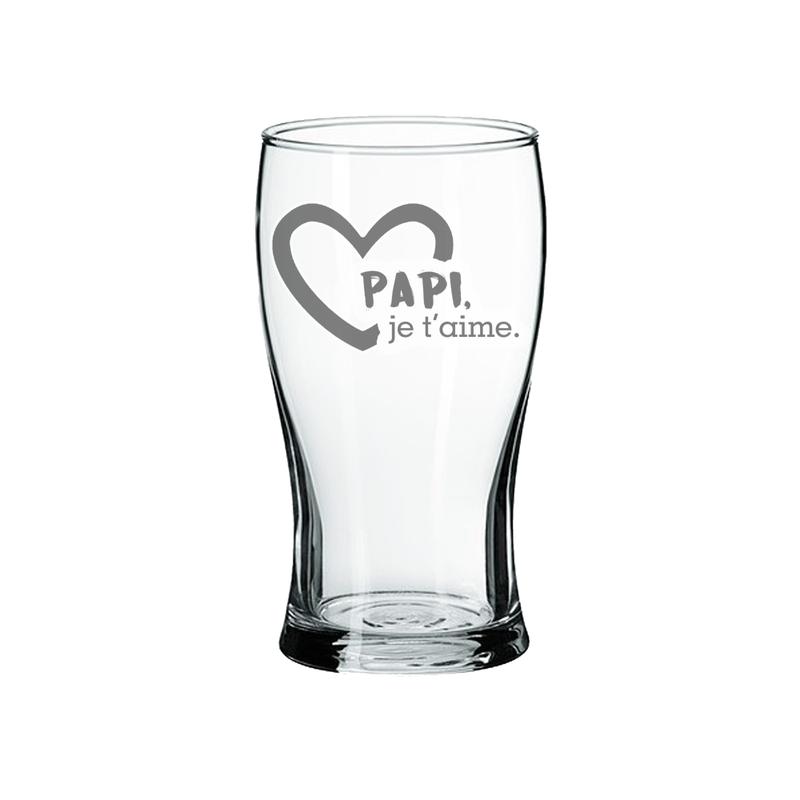 Maison du bar Verre à Bière Papi je t'aime