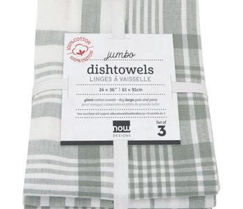 Ens. Linge à vaisselle Jumbo London grey