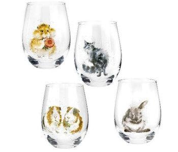 Verre à vin sans pied Wrendale by royal worcester WNA4312  19oz bt/4