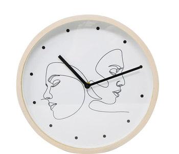 Horloge 2 visages