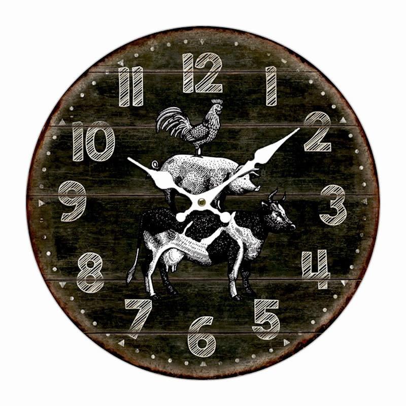 Nostalgia Horloge MDF Farmhouse 633-201