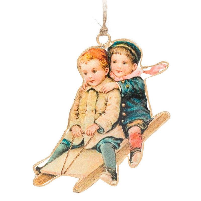 Abbott Ornement de Noel Enfants et toboggan