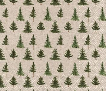 Serviettes de table de Noël Forêt
