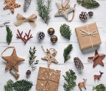 Serviettes de table de Noël Natural Christmas