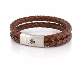 Bracelet Commodore trident Steel Double 6 L Classic Brown