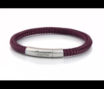 BRACELET NEPTN SAILOR Neptn Pro STEEL 6 R Dark-RedCoral-Rope