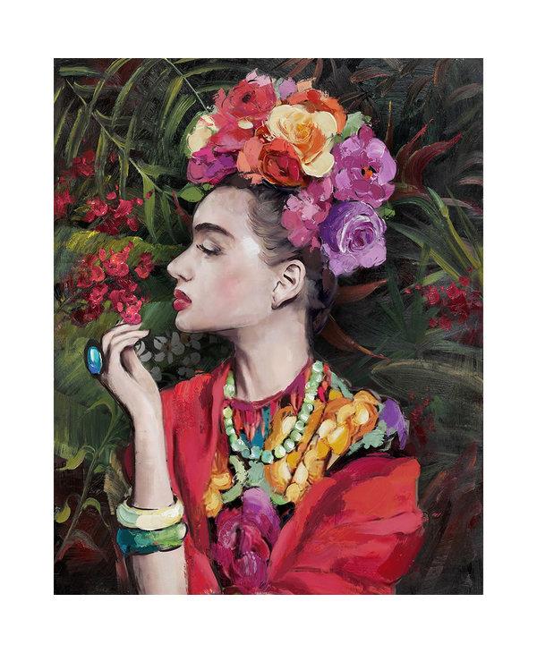 Canvas Frida Khalo rouge 60x90cm