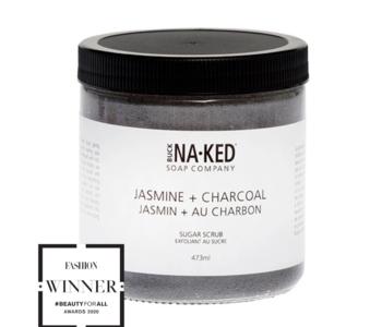 Gommage au sucre Jasmin et charbon Naked