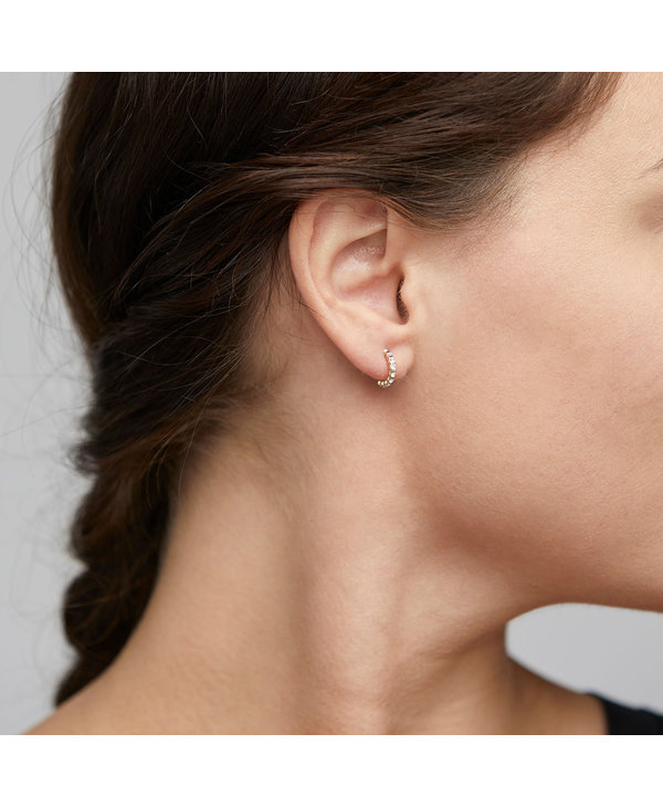 Boucles d'oreilles Brigitte Crystal argent AH21