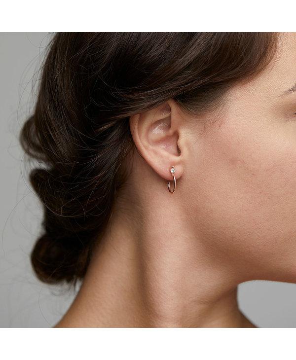 Boucles d'oreilles Gabrielle Crystal argent  AH21