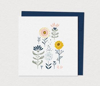 Carte de Souhaits Fleurs Naïves
