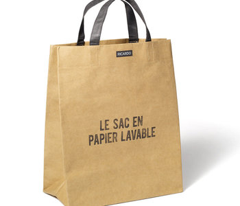 Sac Épicerie en Papier Lavable Brun