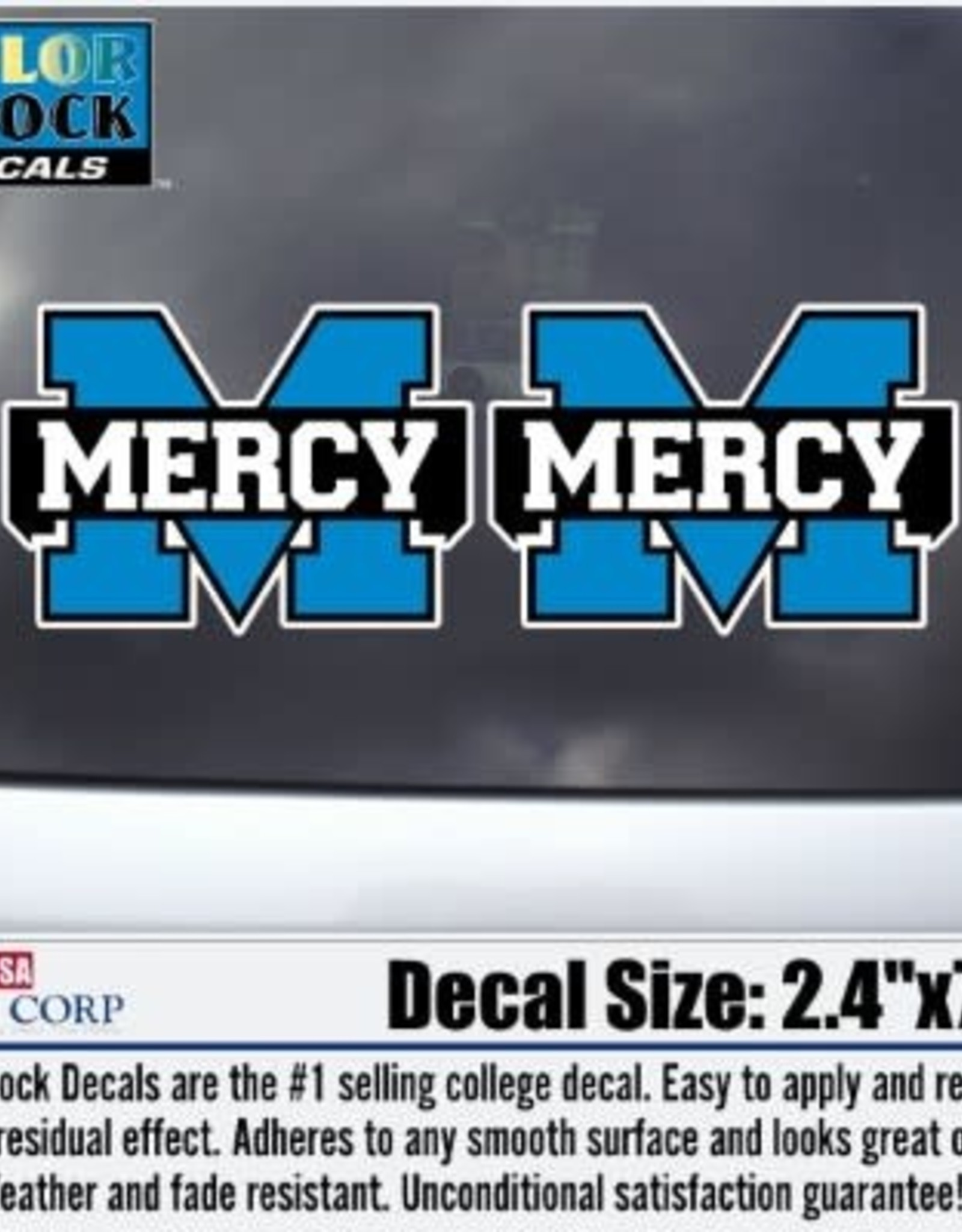 "Color Shock Mercy ""M"" 2 pack Decal (3 inches)"