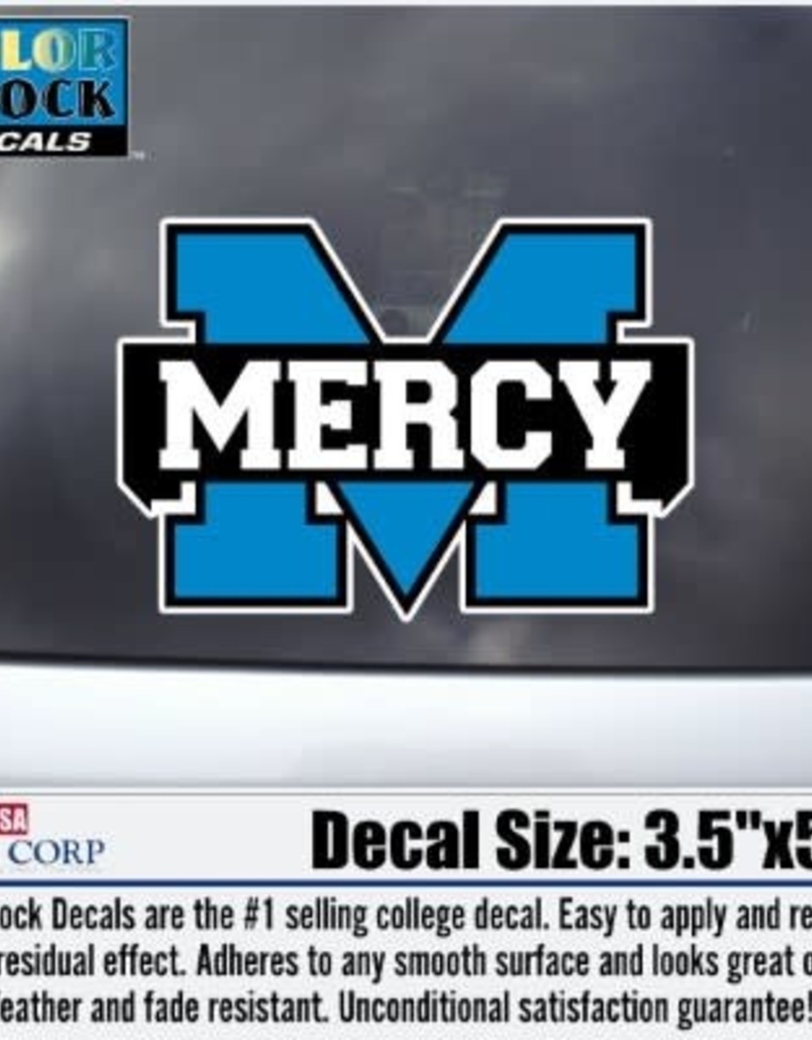 """Color Shock Mercy """"M"""" Decal (5 inches)"""