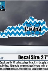 Color Shock Mercy State of Kentucky Chevron - Decal