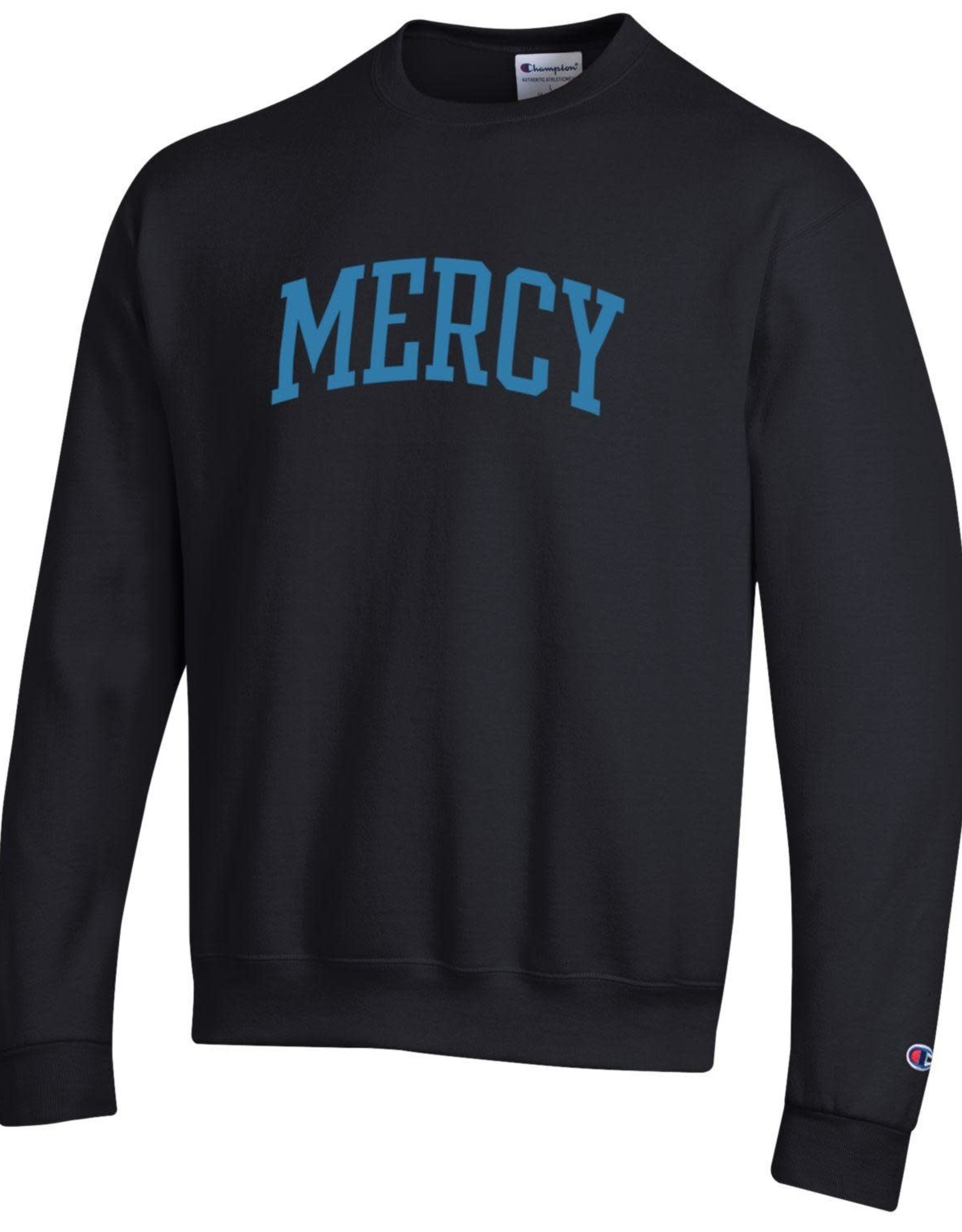 CHAMPION Mercy Embroidered Black Crewneck Sweatshirt