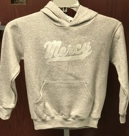Mercy Youth Hoodie - Gray w/ Silver